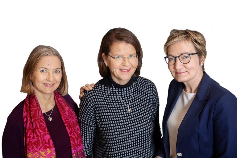 Anna-Liisa Elorinne, Eeva Voutilainen ja Soili Soisalo 25.3.2019 Kuva: Johanna Kokkola